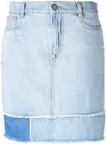 Vivienne Westwood frayed straight denim skirt
