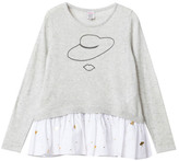 Little Karl Marc John Sale - Mary Ruffled Cashmere Jumper