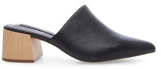 Steven by Steve Madden Fannie Block Heel Leather Mules