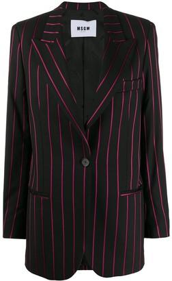 MSGM Striped Tailored Blazer