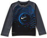 Nike Little Boys 2T-7 Staggered-Stripe Soccer Raglan-Sleeve Teee