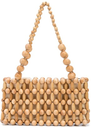 Cult Gaia Beaded Tote Bag
