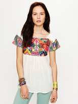 Free People Aztec Embroidery Tunic