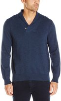 Nautica Men's Button Shawl Collar Sweater