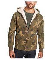 Weatherproof Vintage Men's Full Zip Sueded Fleece Hoodie