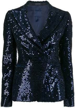 Tagliatore sequin embroidered blazer