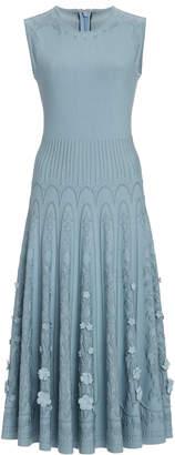 Oscar de la Renta Floral Knit Dress