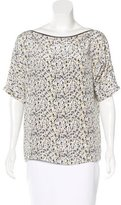 Yigal Azrouel Splatter Print Silk Blouse