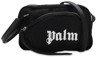 Palm Angels Logo Print Nylon Camera Bag