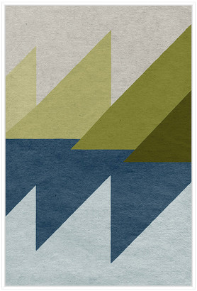 Jonathan Bass Studio New Linen Geometrics D, Decorative Framed Hand Emb