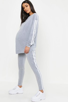 boohoo Maternity Contrast Stripe Lounge Set