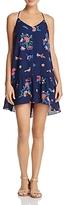 Aqua Tassel-Back Floral Flounce Dress - 100% Exclusive
