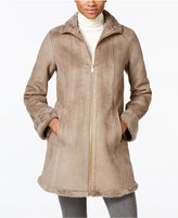 Jones New York Faux-Shearling A-Line Walker Coat