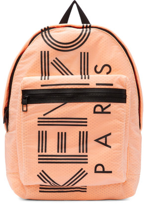 Kenzo Orange Large Logo Backpack