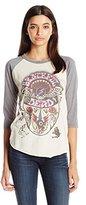 Junk Food Clothing Women's Vintage Grateful Dead 3/4 Raglan Tee