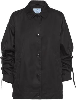 Prada Oversized Fit Gabardine Jacket
