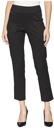 Krazy Larry Pull-On Pique Ankle Pants (Black) Women's Casual Pants
