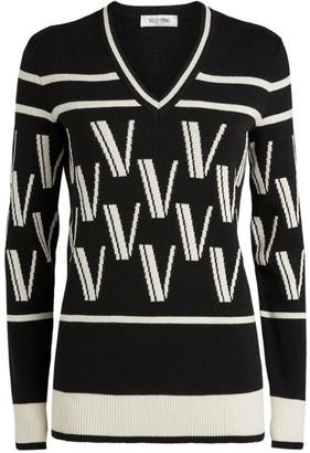 Valentino Cashmere-Wool Jacquard Sweater