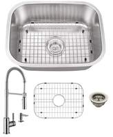 """Cahaba 24"""" L x 18"""" W Undermount Bar Sink with Faucet and Soap Dispenser Cahaba"""