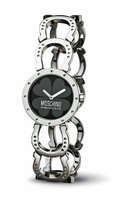 Moschino MW0039 Women's Let's Hope Black Dial Stainless Steel Watch