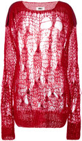 MM6 MAISON MARGIELA spider web knitted jumper - women - Acrylic/Polyamide/Viscose/Mohair - XS