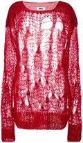MM6 MAISON MARGIELA spider web knitted jumper