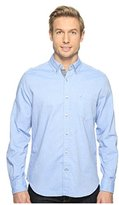 Nautica Men's Long Sleeve Button Down Solid Oxford Shirt