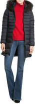 Duvetica Quilted Down Jacket with Fur Trim