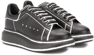 ALEXANDER MCQUEEN KIDS Contrast Trim Sneakers