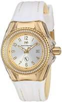 Technomarine Women's 'Eva Longoria' Swiss Quartz Stainless Steel and Silicone Casual Watch, Color:White (Model: TM-416025)