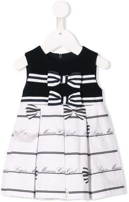 Lapin House Contrast Striped Dress