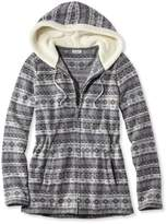 L.L. Bean Fair Isle Fleece-Knit Jacket, Print