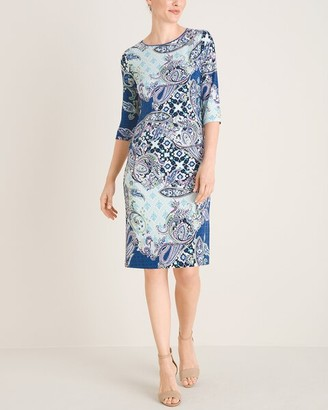 Chico's Paisley Bateau-Neck Dress