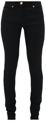 Versace Slim-fit Technical Stretch And Denim Jeans - Womens - Black
