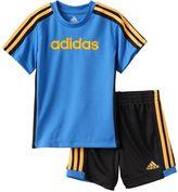 adidas Toddler Boy Graphic Striped Tee & Striped Shorts Set