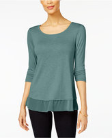 Style&Co. Style & Co Style & Co Petite Chiffon-Hem Top, Created for Macy's