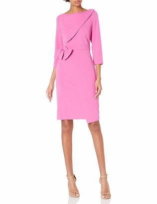 Adrianna Papell Women's Knit Crepe Tied Sheath