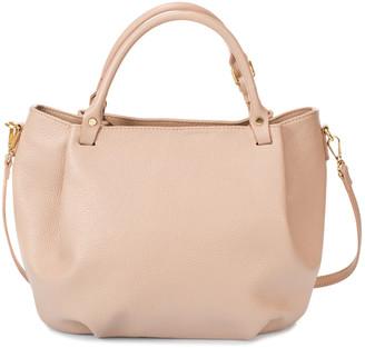 Italian Leather Giorgio Costa Leather Top Handle Bag