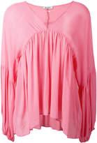 Dondup V-neck draped blouse