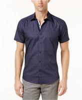 Ryan Seacrest Distinction Ryan Seacrest Distinctionandtrade; Men's Slim-Fit Blue Printed Shirt, Created for Macy's