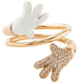 Alison Lou 14K Diamond Hand Ring