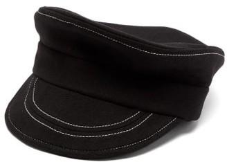 Charles Jeffrey Loverboy Trojan Brushed-wool Bakerboy Cap - Black