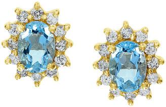 Effy 14K 1.99 Ct. Tw. Diamond & Aquamarine Earrings