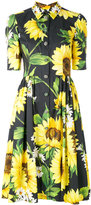 Dolce & Gabbana sunflower shirt dress - women - Cotton - 42