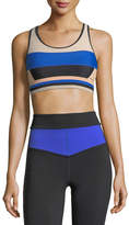 P.E Nation The Tournament Racerback Paneled Crop Top