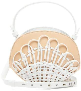 Nico Giani Amelia Mini Woven Leather Cross-body Bag - Womens - White Multi