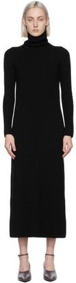 S Max Mara Black Wool Altea Turtleneck Dress