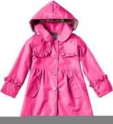 Shiny Toddler Little Girls Kids Waterproof Hoodied Coat Jacket RainCoat M5