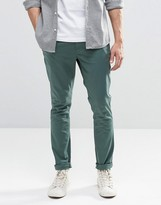 Asos Super Skinny Chinos In Khaki