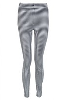 Select Fashion Fashion Womens Grey High Waist Gingham Trousers - size 18